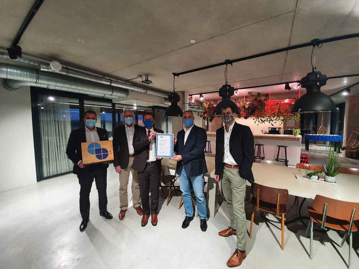 Jubiläumsurkunde zum 25-jährigen Firmenjubiläum der Optimo Software GmbH